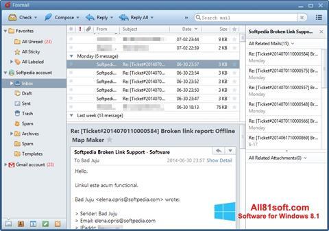 Képernyőkép FoxMail Windows 8.1