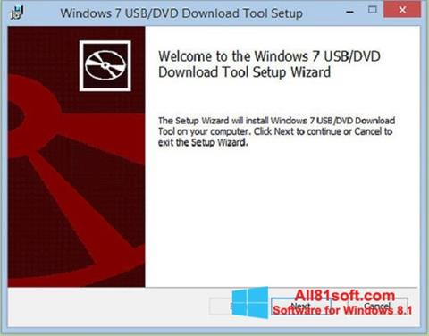 Képernyőkép Windows 7 USB DVD Download Tool Windows 8.1