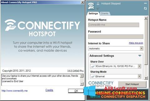 Képernyőkép Connectify Windows 8.1