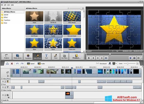 Képernyőkép AVS Video Editor Windows 8.1