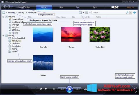 Képernyőkép Media Player Windows 8.1