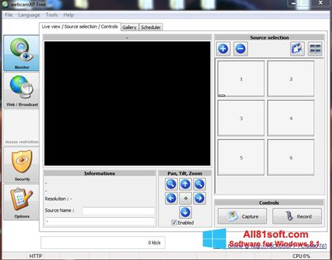 Képernyőkép webcamXP Windows 8.1