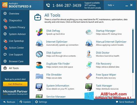 Képernyőkép Auslogics BoostSpeed Windows 8.1