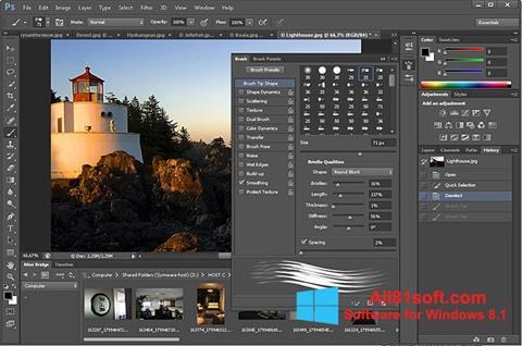 Képernyőkép Adobe Photoshop Windows 8.1