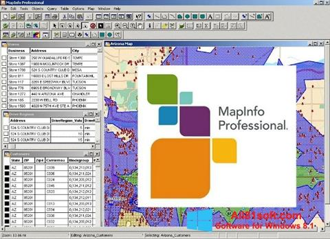 Képernyőkép MapInfo Professional Windows 8.1