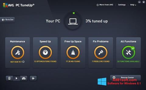 Képernyőkép AVG PC Tuneup Windows 8.1