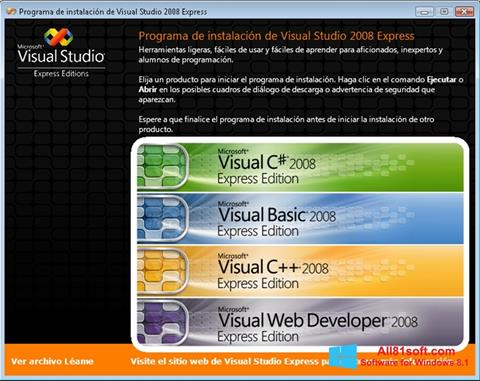Képernyőkép Microsoft Visual Studio Windows 8.1