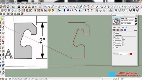 Képernyőkép SketchUp Windows 8.1