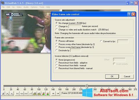 Képernyőkép VirtualDubMod Windows 8.1