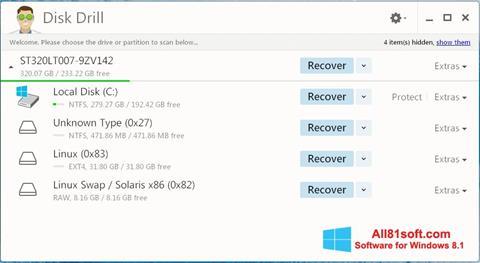 Képernyőkép Disk Drill Windows 8.1