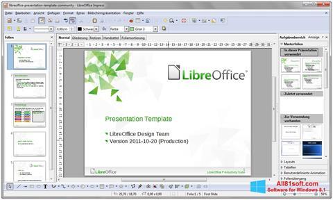 Képernyőkép LibreOffice Windows 8.1