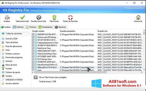 Képernyőkép Vit Registry Fix Windows 8.1
