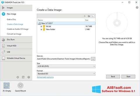 Képernyőkép DAEMON Tools Lite Windows 8.1