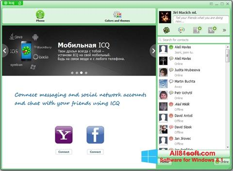 Képernyőkép ICQ Windows 8.1