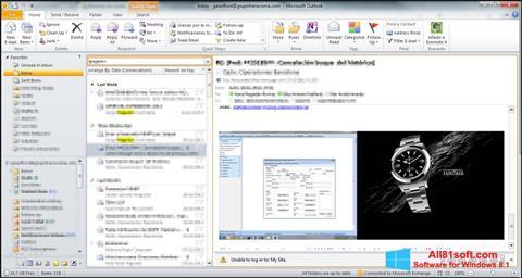 Képernyőkép Microsoft Outlook Windows 8.1