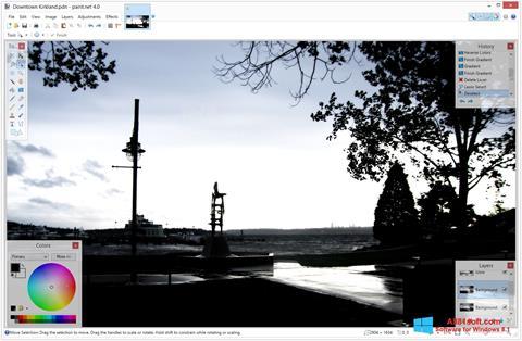 Képernyőkép Paint.NET Windows 8.1