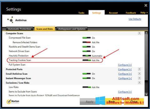Képernyőkép Norton Windows 8.1