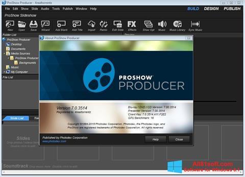 Képernyőkép ProShow Producer Windows 8.1