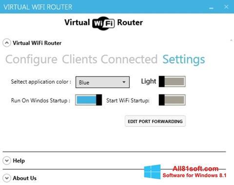 Képernyőkép Virtual WiFi Router Windows 8.1