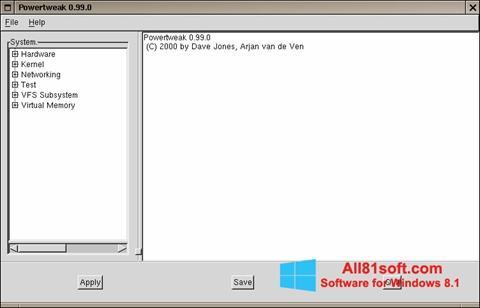 Képernyőkép PowerTweak Windows 8.1
