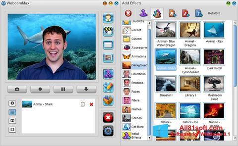 Képernyőkép WebcamMax Windows 8.1
