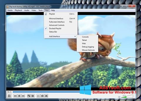 Képernyőkép VLC Media Player Windows 8.1