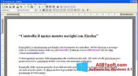 Képernyőkép AbiWord Windows 8.1