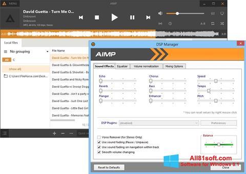Képernyőkép AIMP Windows 8.1