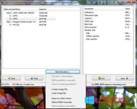 Képernyőkép Zero Assumption Recovery Windows 8.1