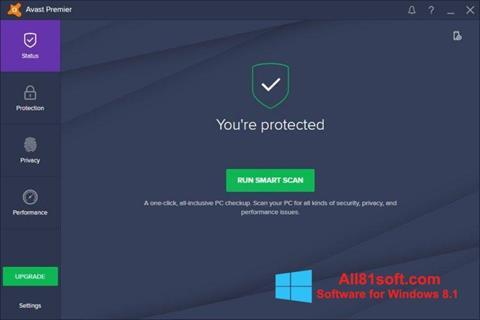 Képernyőkép Avast Premier Windows 8.1