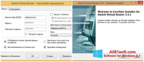 Képernyőkép Switch Virtual Router Windows 8.1