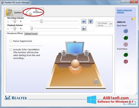 Képernyőkép Realtek Audio Driver Windows 8.1