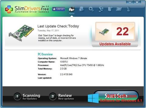 Képernyőkép SlimDrivers Windows 8.1