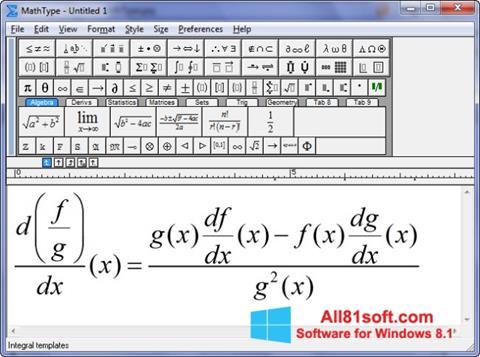 Képernyőkép MathType Windows 8.1