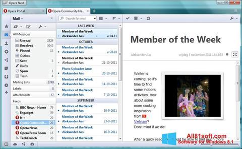 Képernyőkép Opera Mail Windows 8.1