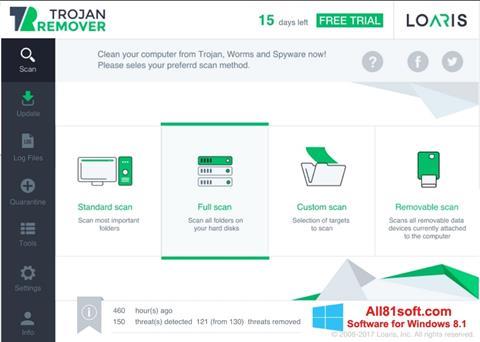 Képernyőkép Loaris Trojan Remover Windows 8.1
