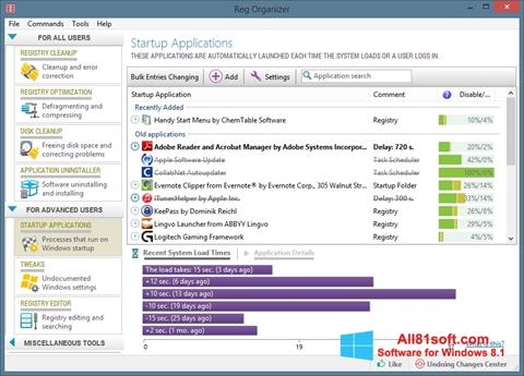 Képernyőkép Reg Organizer Windows 8.1