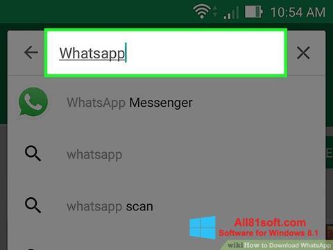 Képernyőkép WhatsApp Windows 8.1