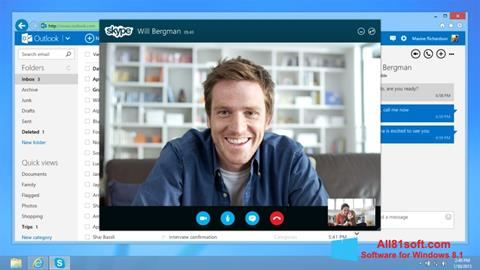 Képernyőkép Skype Windows 8.1